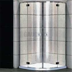 Овална душ кабина Alegra 100х100 - прозрачно стъкло gds_ICS 32100