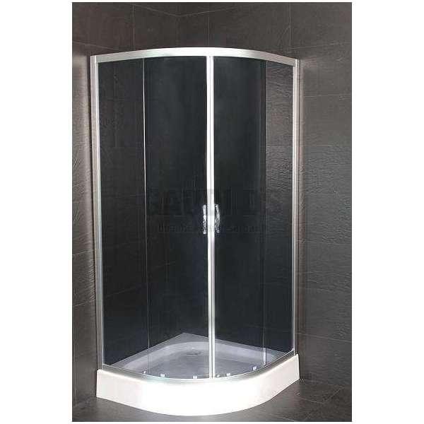 Овална душ кабина комплект 80х80 - тонирано стъкло gds_ICS 285G/80