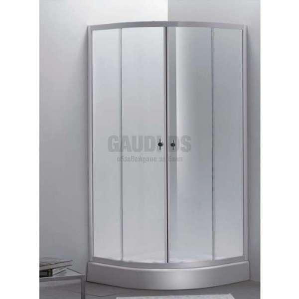 Овална душ кабина Summer комплект 80х80 - матирано стъкло gds_ICS 285FS/80