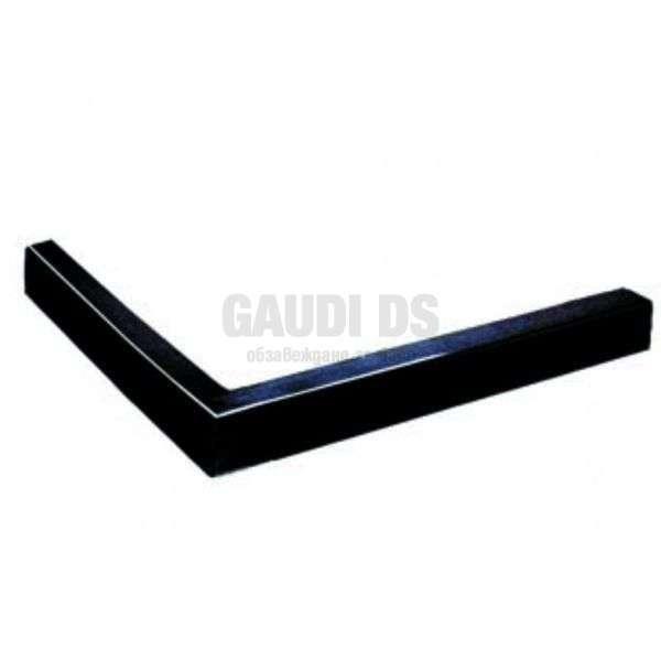 Черен квадратен поддушов керамичен профил 110х90, ляв gds_ICS 110/90B L