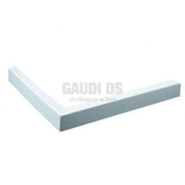 Бял квадратен поддушов керамичен профил 100х80, ляв gds_ICS 100/80W L