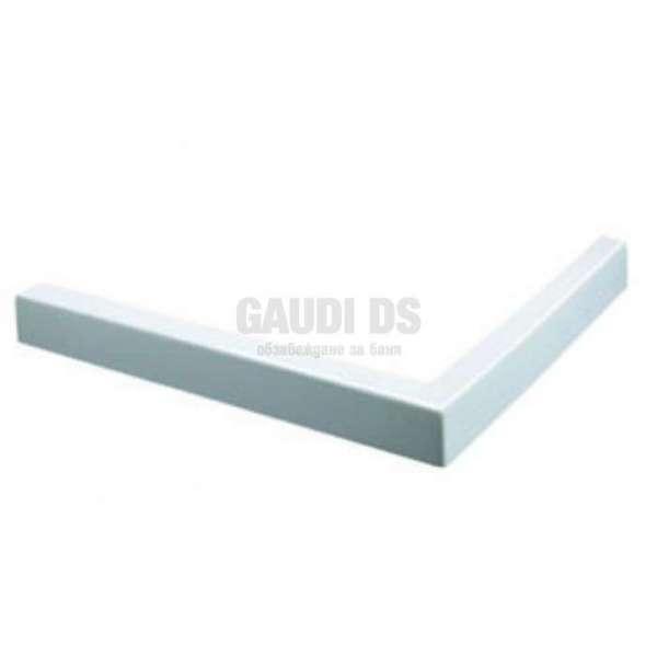 Бял квадратен поддушов керамичен профил 100х80, десен gds_ICS 100/80W R