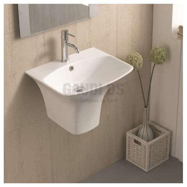 Порцеланова мивка с полуконзола 56х46 см gds_ICC 5646