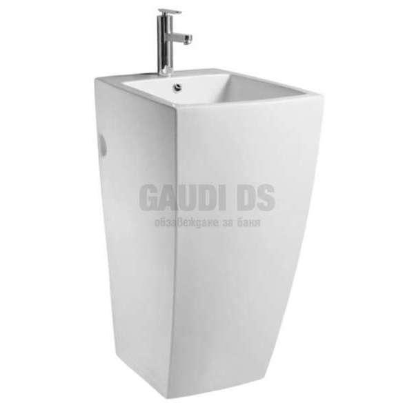 Монолитна порцеланова мивка 52 см, бяла gds_ICC 5246