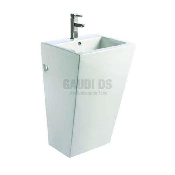 Монолитна порцеланова мивка 51см, бяла gds_ICC 5151