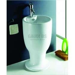 Масивна порцеланова мивка 46 см, бяла gds_ICB 4682