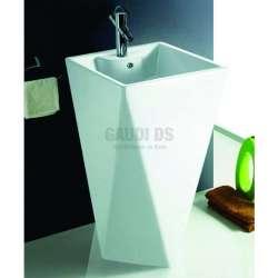 Масивна порцеланова мивка 46 см, бяла с кубична форма gds_ICB 4683