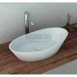 Овална мивка за плот 67 см от iStone, бяла gds_ICB 683W