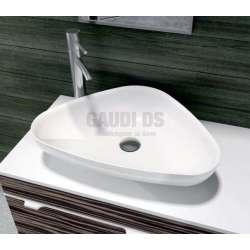 Триъгълна мивка iStone за плот 60 см, бяла gds_ICB 686W