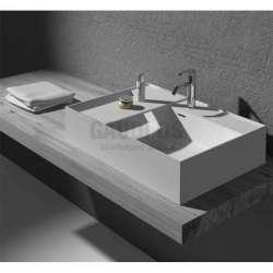 Правоъгълна мивка iStone за плот 60 см, бяла gds_6016W