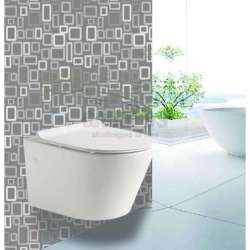Конзолна тоалетна чиния бяла Slim Seat 48х36,5х36 см, без ръб gds_ICC 4863 slim