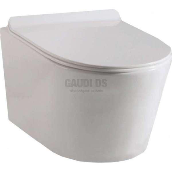 Конзолна тоалетна чиния с биде 52,5х36х33 см gds_ICC 3352