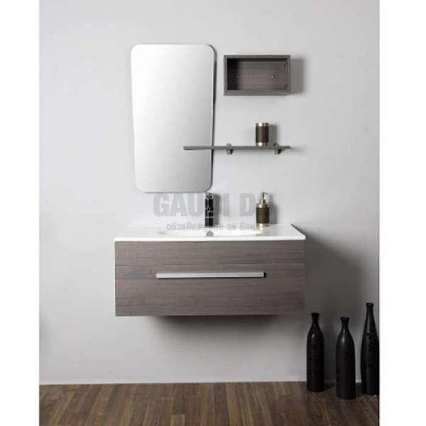 Комплект долен шкаф 75 см, мивка, огледало, колонка gds_ICP 7535