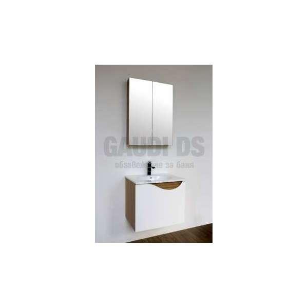 Комплект долен шкаф 59 см, мивка и огледален горен gds_ICP 5944