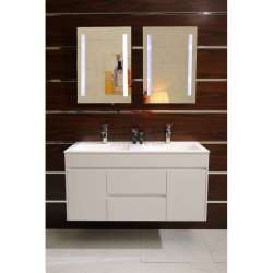 Двоен долен шкаф PVC 120 см и мивка iStone с вграден сифон 1