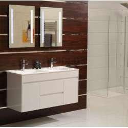 Двоен долен шкаф PVC 120 см и мивка iStone с вграден сифон gds_ICP 12046