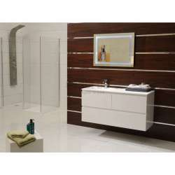 Долен шкаф PVC 120 см и мивка iStone с вграден сифон 2
