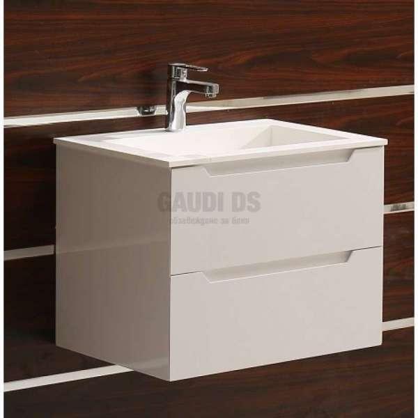 Долен шкаф PVC 60 см и мивка iStone с вграден сифон gds_ICP 6026