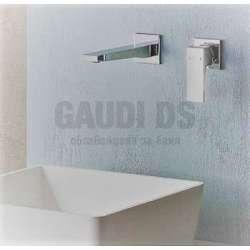 Alpi Una стенен смесител за мивка, бял мат UN 18876/20 BL
