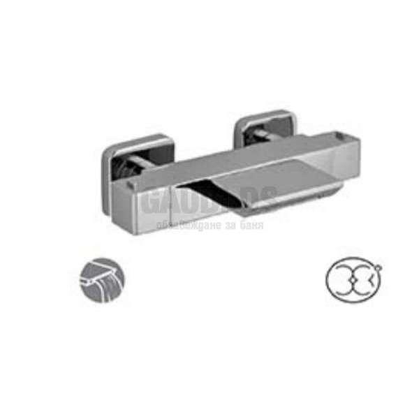 Alpi Una смесител с термостат за душ/вана - каскаден UN 18306 CR