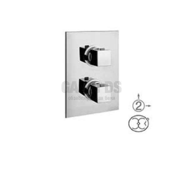 Alpi Una скрит смесител за вана/душ с термостат, хром UN 57163 CR