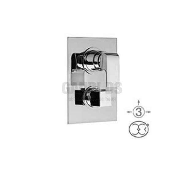 Alpi Una скрит смесител за вана/душ с термостат, с три изхода UN 57169 CR