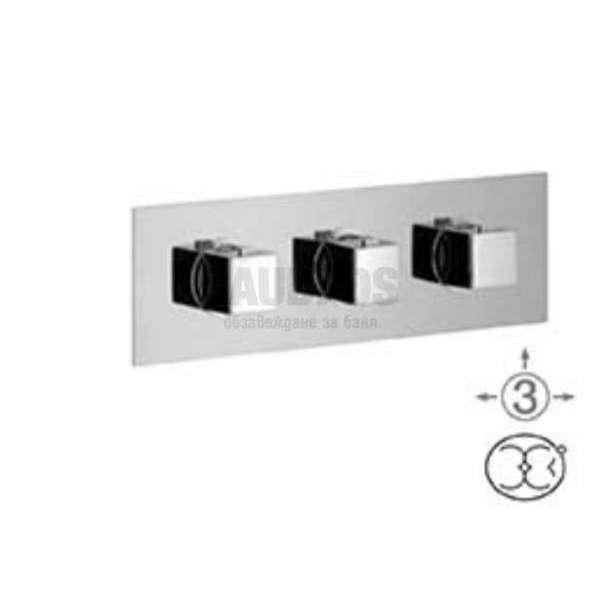 Alpi Una скрит термостатен смесител за душ с три изхода UN 18L169 CR