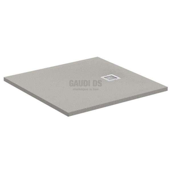 Ultra Flat S квадратно поддушово корито 80х80 см, бетонено сиво K8214FS