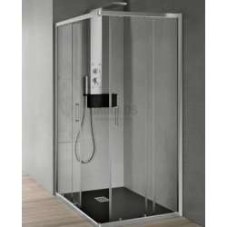 Hafro квадратна душ кабина 70х70 прозрачна 2хFOA1MR067