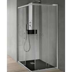 Hafro квадратна душ кабина 100х100 прозрачна 2хFOA1MR097