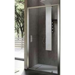 Hafro правоъгълна душ кабина 90х80, една отваряема врата FOP4IR087+FOF1MR077