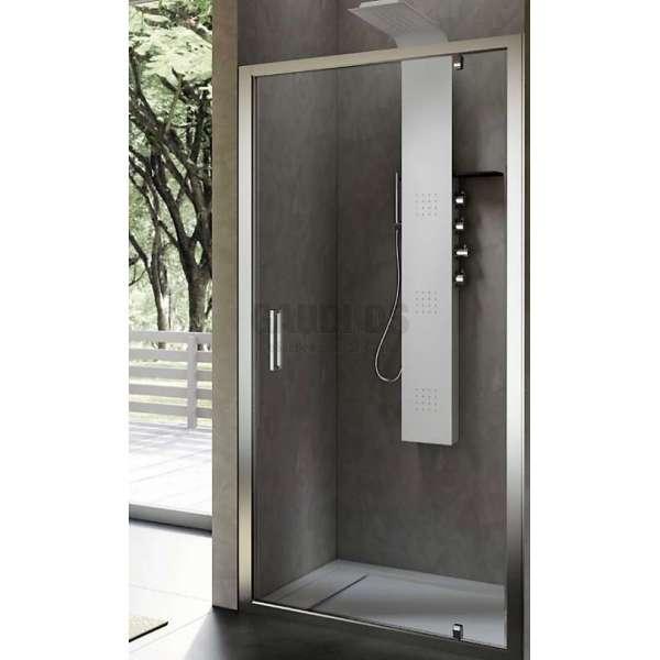 Hafro квадратна душ кабина 90х90, една отваряема врата FOP4IR087+FOF1MR087