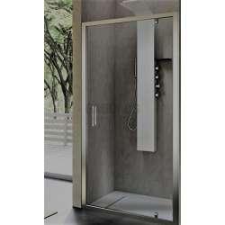 Hafro правоъгълна душ кабина 100х80, една отваряема врата FOP4IR097+FOF1MR077