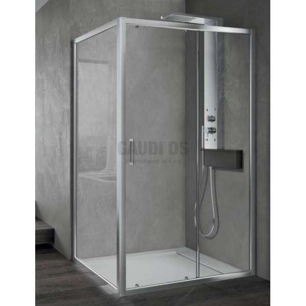 Hafro правоъгълна душ кабина 100х70, една плъзгаща врата FOP1IR097+FOF1MR067