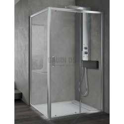 Hafro правоъгълна душ кабина 100х90, една плъзгаща врата FOP1IR097+FOF1MR087