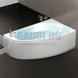 Хидромасажна асиметрична Hafro Nova Whirlpool 160х100 с рамка, панели, сифон - дясна 2NVB5D3