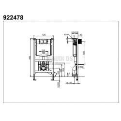 Villeroy & Boch ViConnect WC структура за вграждане, ниска - h 98 см 2