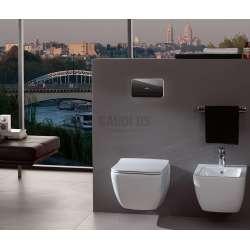 Villeroy & Boch ViConnect M200 WC бутон черно стъкло, Led осветление 1