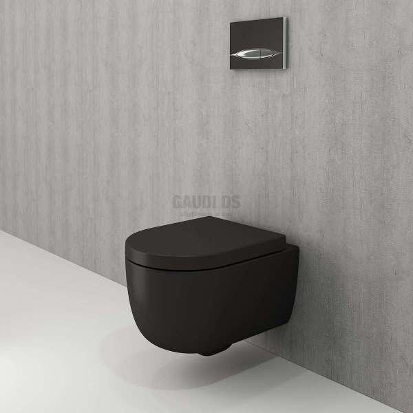 Bocchi Tondo Rimless конзолна WC черен мат 1417 004 0129+A0301 004