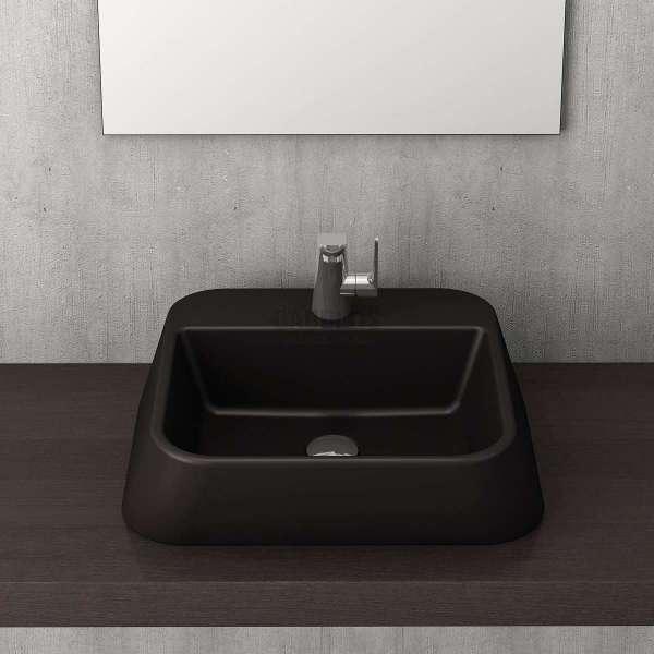 Bocchi Firenze 50см мивка за монтаж върху плот черен мат 1074-004-0126