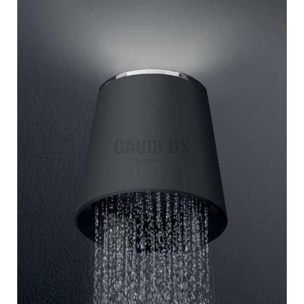Alpi Fred душ глава с Led осветяване - горно, черна, за стена FDP01 CR NE