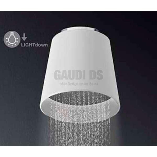 Alpi Fred душ глава с Led осветяване - долно, бяла, за таван FDS02 CR BI