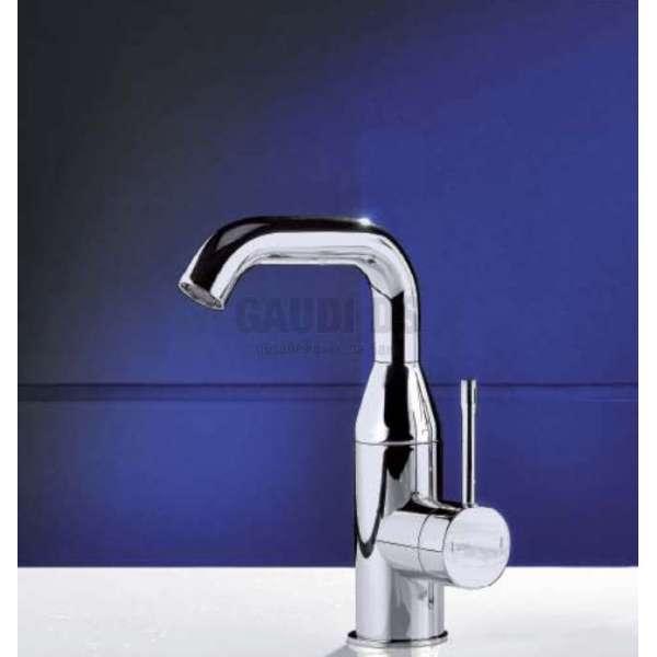 Alpi Blue среден смесител за мивка, с изпразнител, хром BU 85275 CR