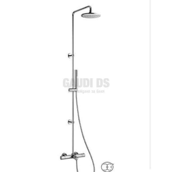 Alpi Blue душ колона с удължена колона и термостат за вана/душ, хром BU 85RM4151 CR