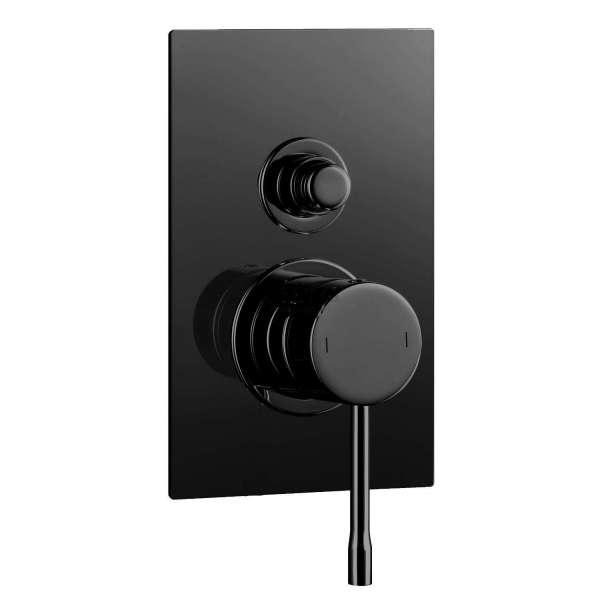 Alpi Blue вграден смесител за душ с превключвател, черен мат BU 85863 NE