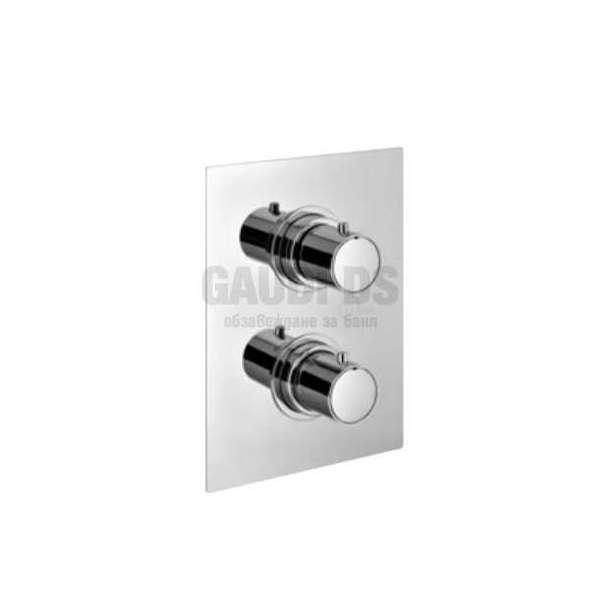 Alpi Blue вграден термостатен смесител за душ с два изхода, хром BU 85163 CR