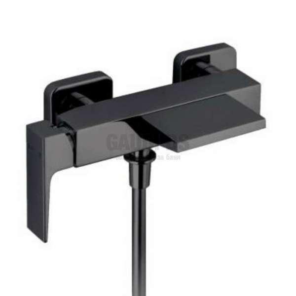 Alpi Una смесител за душ/вана - каскаден, черен мат UN 18806 NE