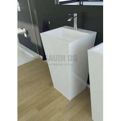Besco Vera свободно стояща мивка 40x50x85 см, бяла 2
