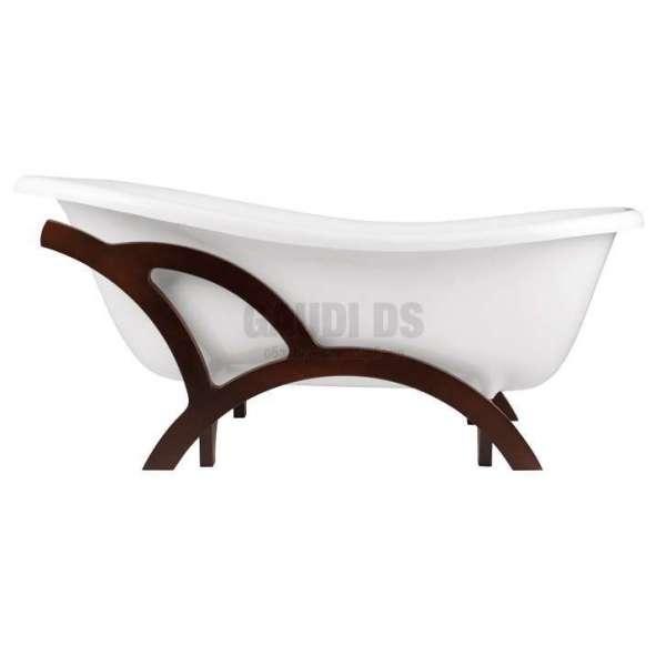 Besco Otylia 170 свободностояща вана 170х77 см, с дървена рамка Besco_WKO-170WO+A