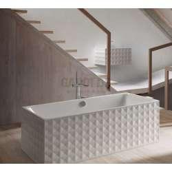 BetteLoft Ornament правоъгълна вана, свободностояща 181х81 см - бяла